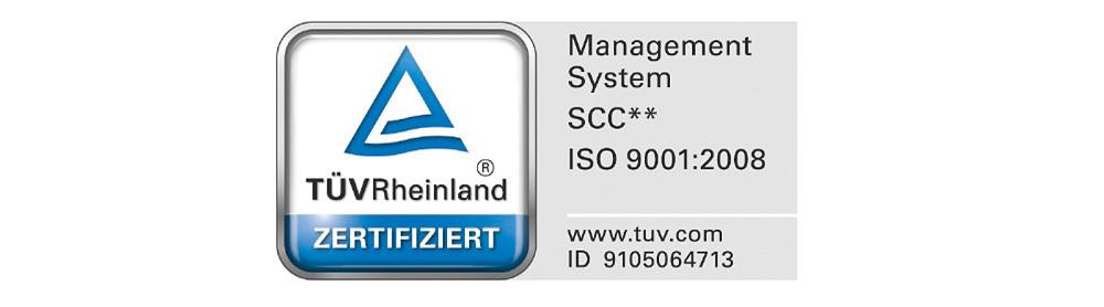 Fig. 1. Logo for SCC** certification according to ISO 9001. // Bild 1. Logo für die SCC**-Zertifizierung nach ISO 9001.