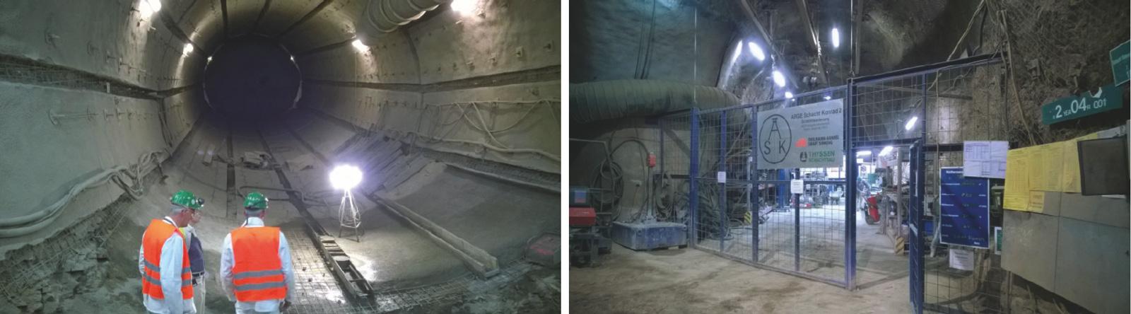 Fig. 2. Site audit for the Konrad shaft construction team. // Bild 2. Baustellenaudit bei der Arbeitsgemeinschaft Schächte Konrad. Photos/Fotos: THYSSEN SCHACHTBAU