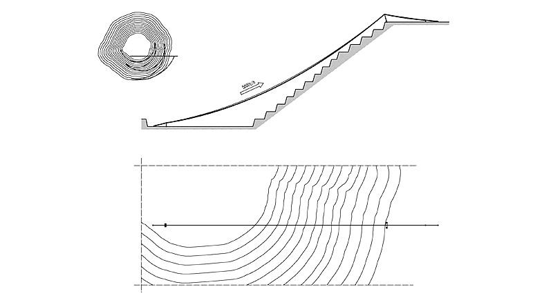 Fig. 2. Example of a RopeCon® in open-pit mining. // Bild 2. Beispiel einer RopeCon® Streckenführung im Tagebau.