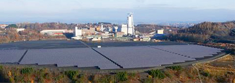 Fig. 6. Photovoltaic plant at Göttelborn mine, Saarland. // Bild 6. Photovoltaikanlage Bergwerk Göttelborn, Saarland. Photo/Foto: RAG