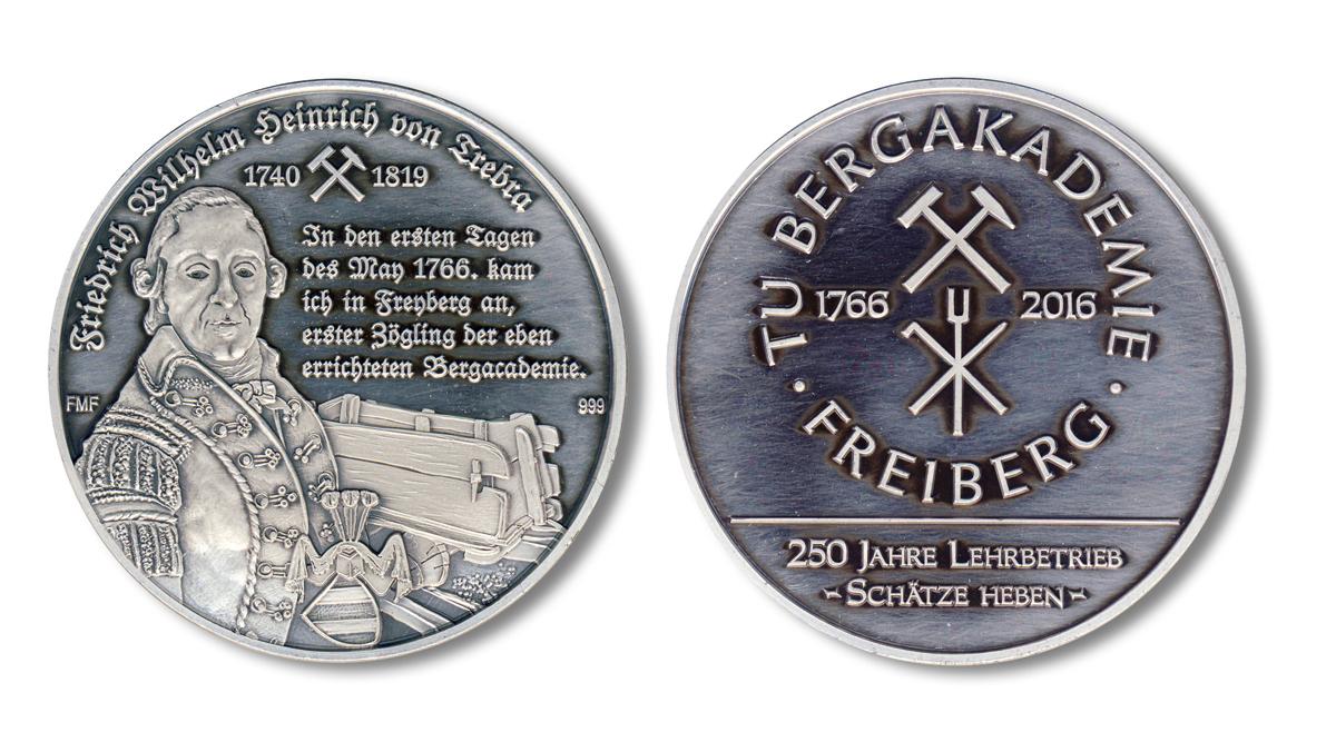 Fig. 4. Annual medal 2016 of the Freiberg Coin Association // Bild 4. Jahresmedaille 2016 der Freiberger Münzfreunde e. V.